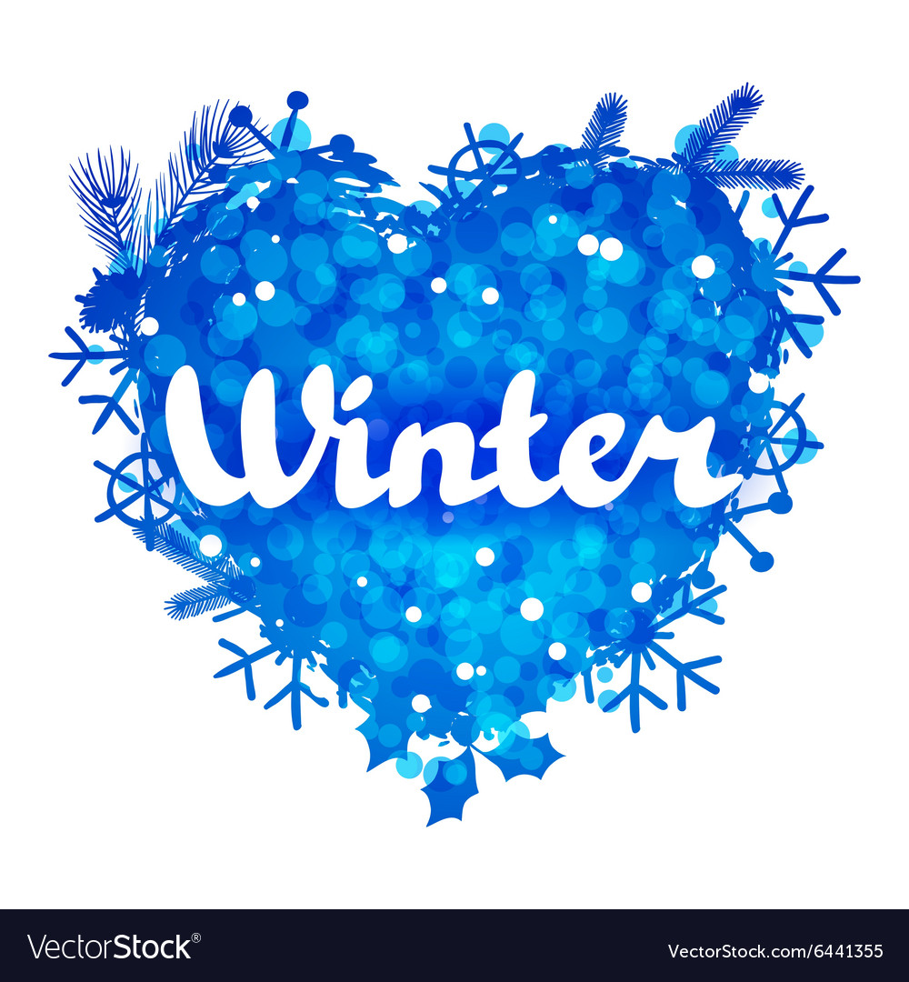 Winter abstract background design with snowflakes
