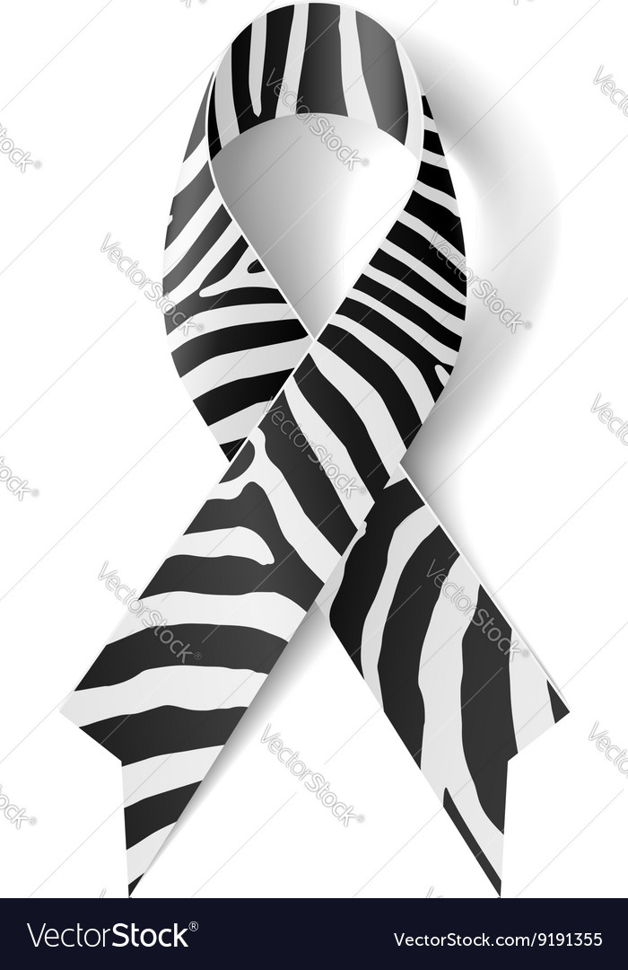 zebraprint ribbon royalty free vector image vectorstock