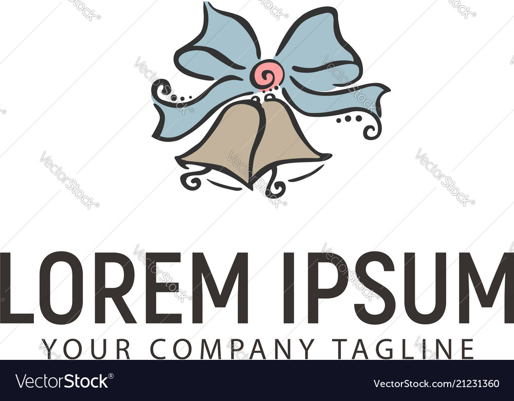 Bell logohand drawn design concept template