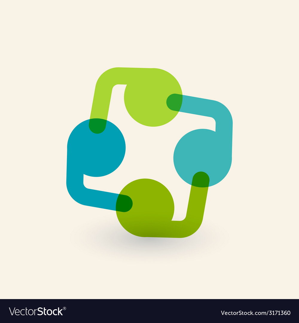 Cooperation and partnership icon Logo design