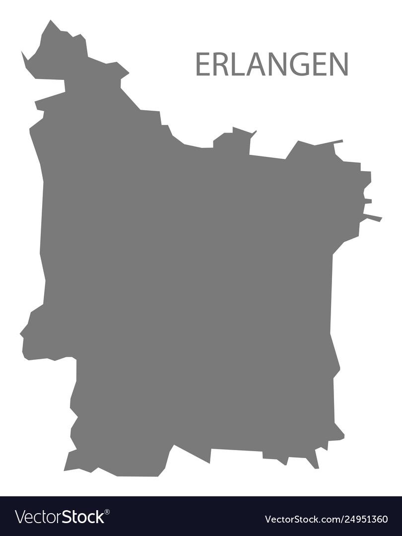Map Of Germany Erlangen.Erlangen Grey County Map Bavaria Germany
