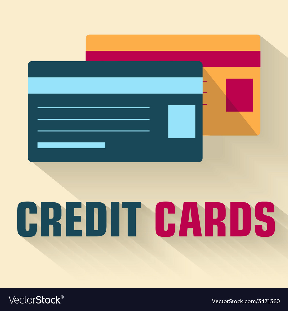 Flat credit cards icon concept design