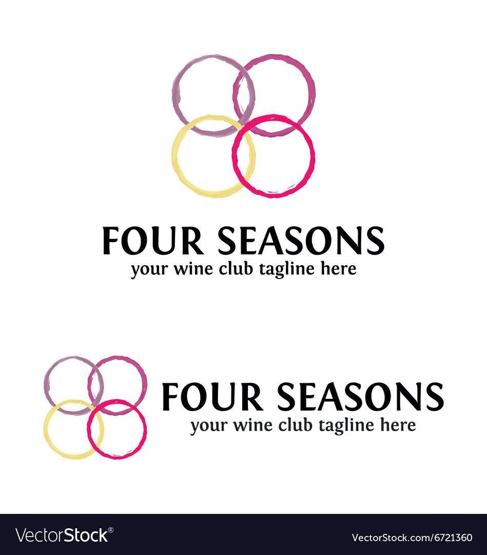 Four Seasons Wine logo Template