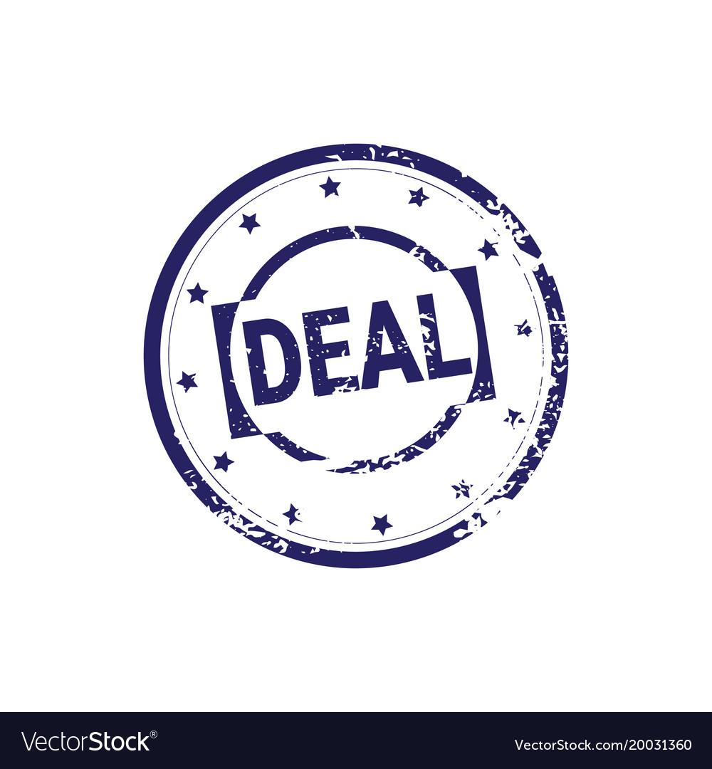 Safe deal stamp blue grunge sticker or badge icon