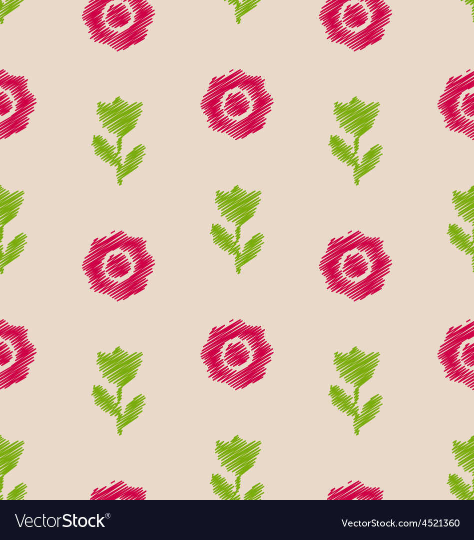 Seamless Floral Texture Vintage Pattern for