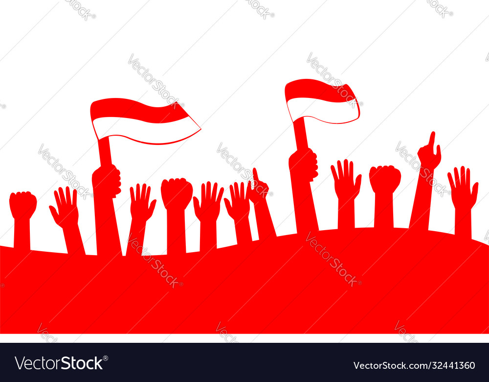 Template Background Indonesia Independence Day Vector Image