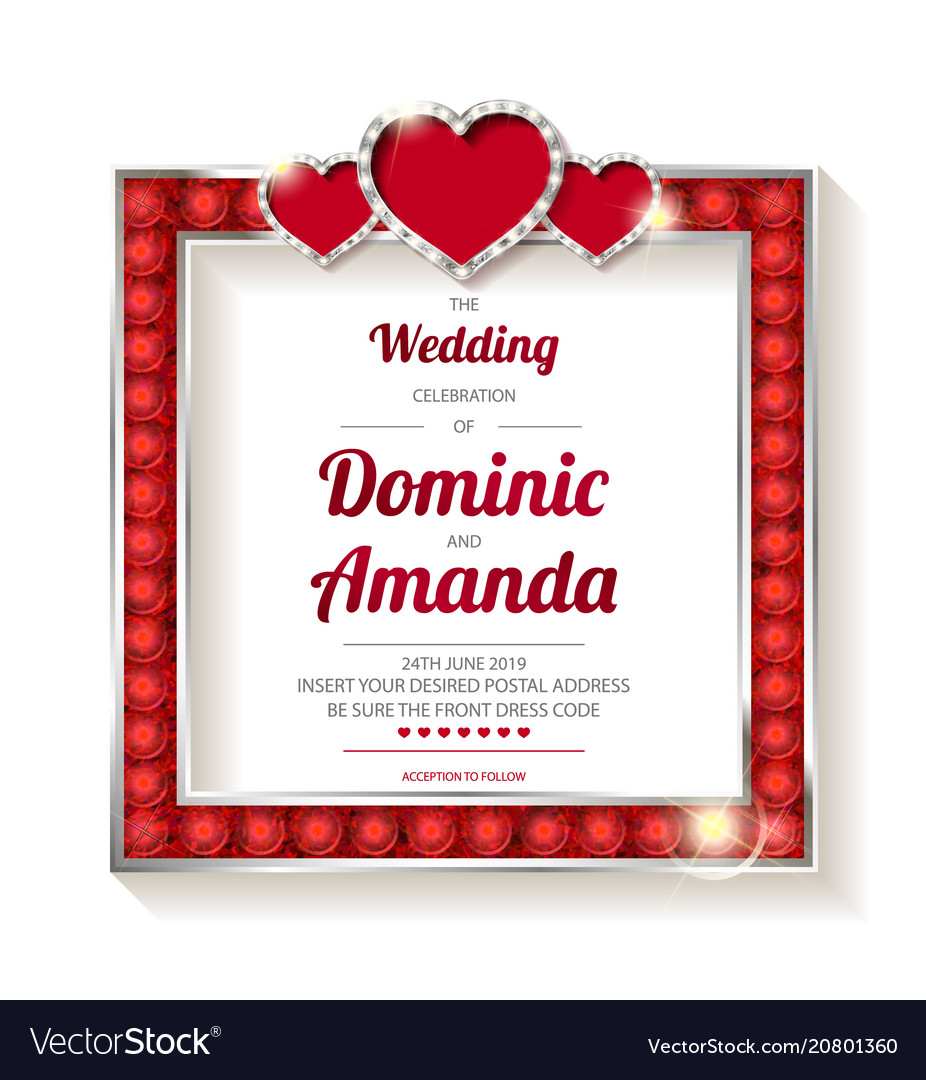 Wedding invitation thank you card Royalty Free Vector Image
