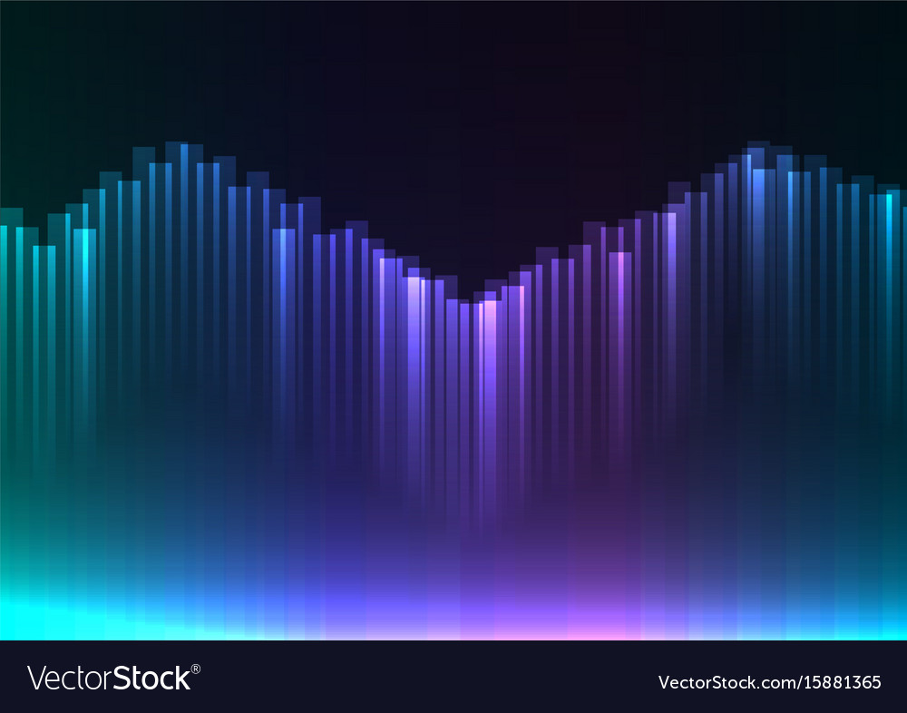 Cool tone of digital aurora abstract background vector image