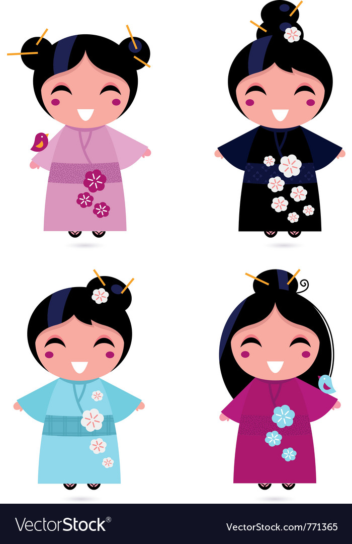 Cute geisha set