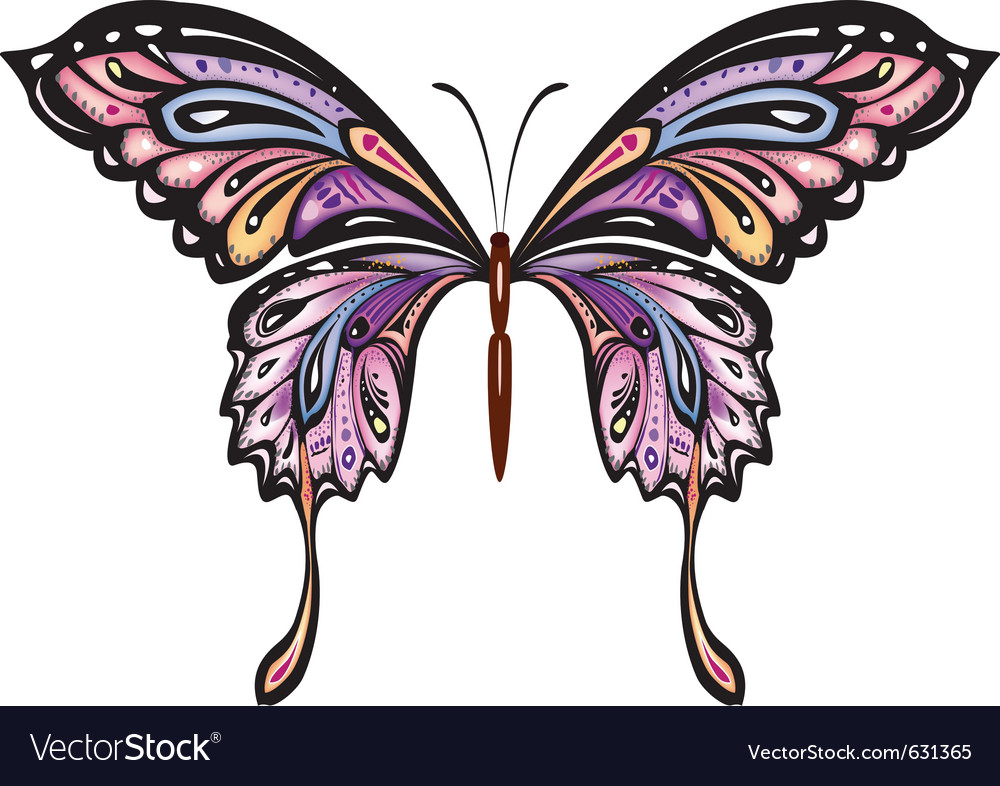 Decorative Butterfly Royalty Free Vector Image