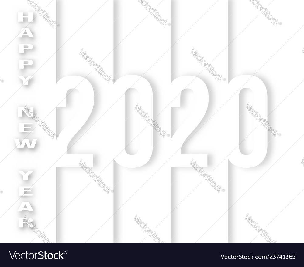 Happy 2020 new year background design for holiday