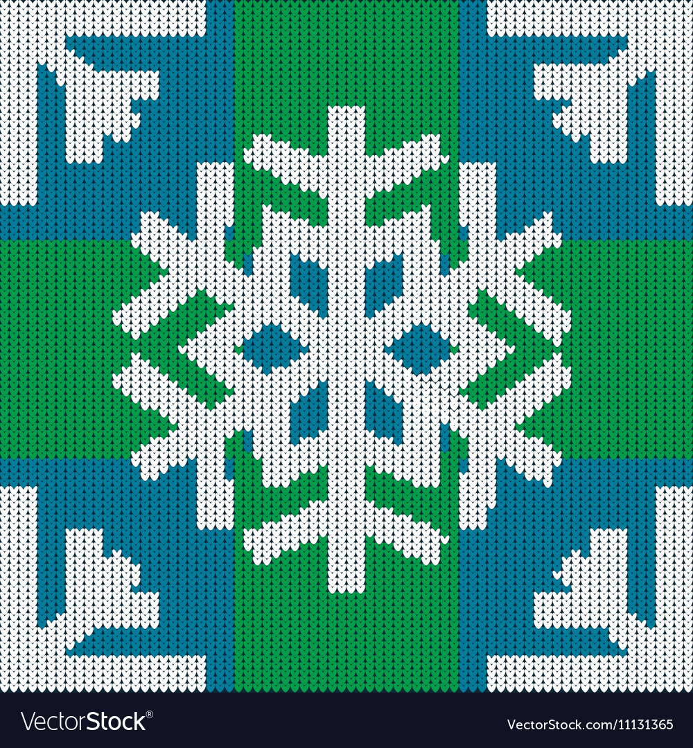 Knitting in winter style Snowflake