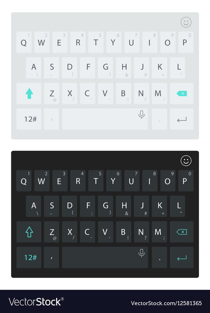 Modern smartphone keyboard alphabet buttons