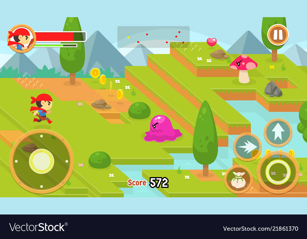 budi journey game assets royalty free vector image  vectorstock