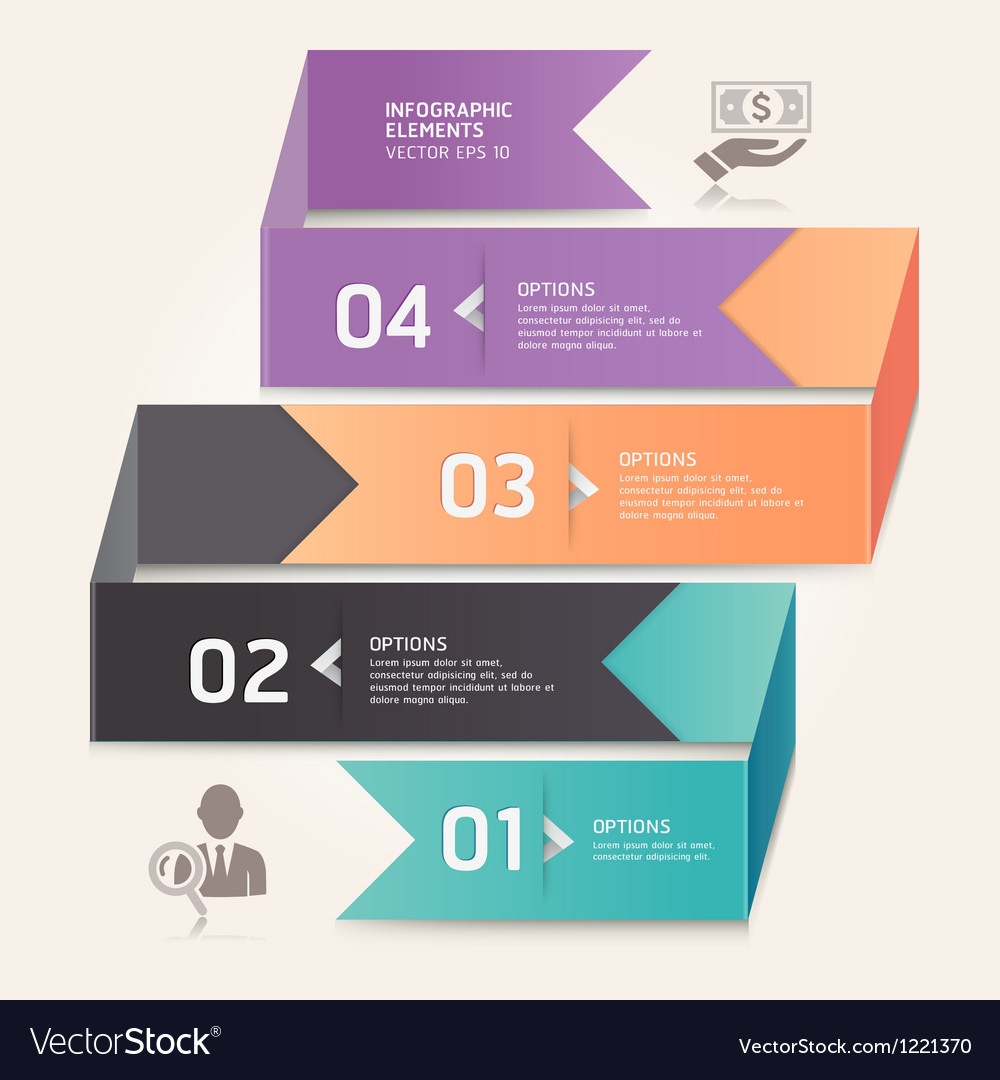 Business step options origami style