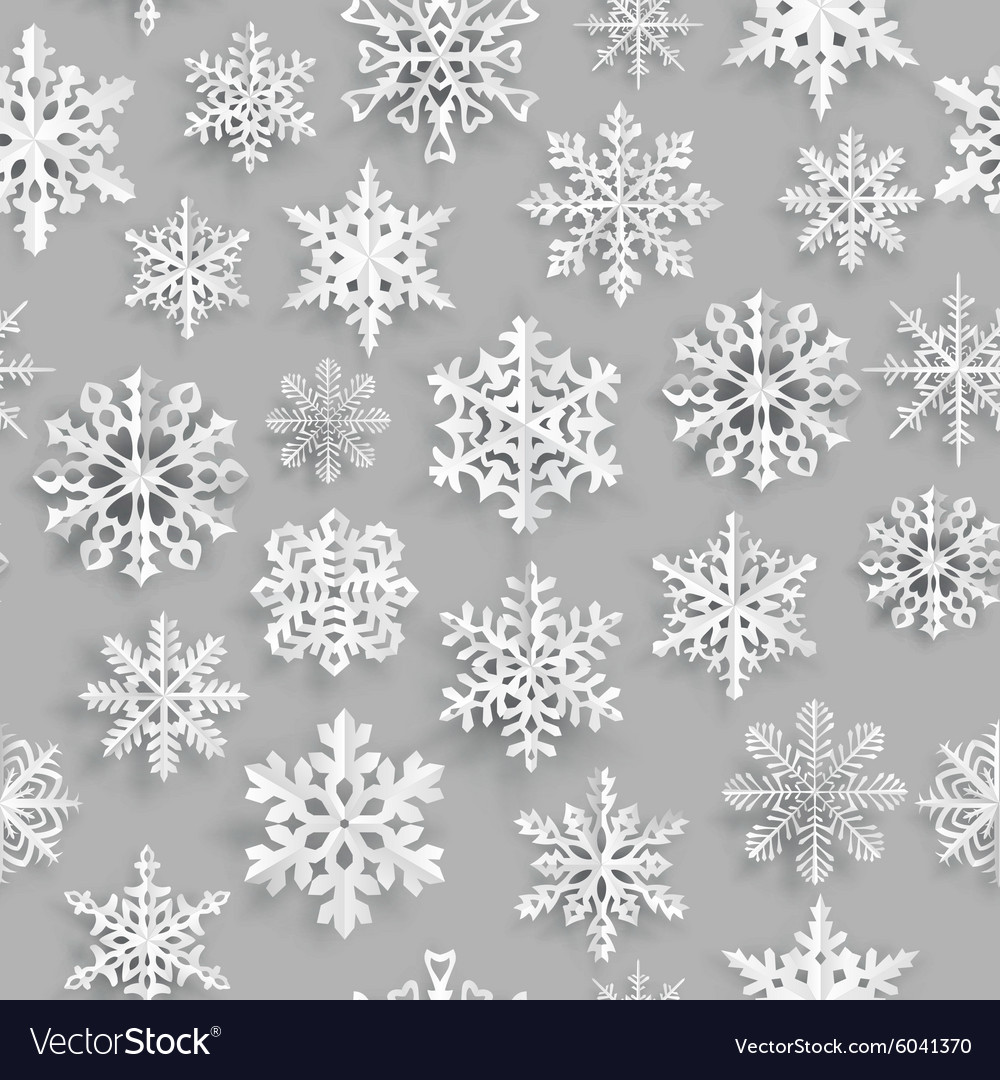 Christmas seamless pattern with snowflakes