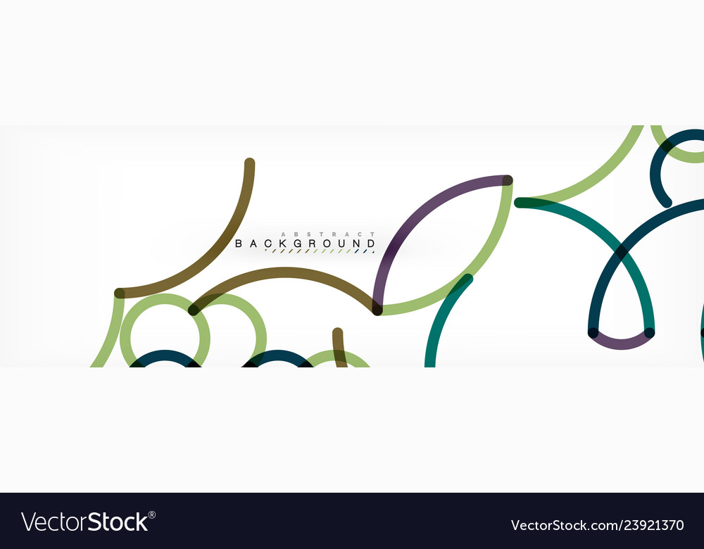 Curly lines abstract background color overlapping