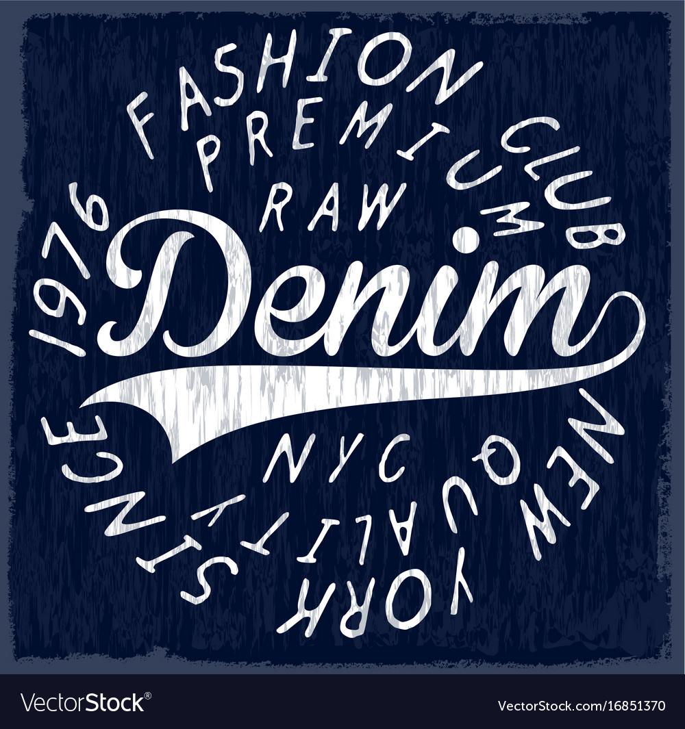 Denim originals t-shirt design poster