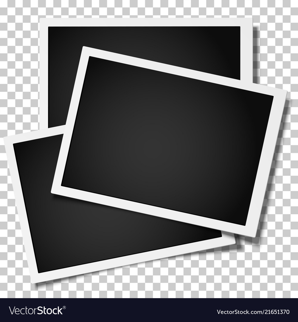 Group of retro realistic photo frames