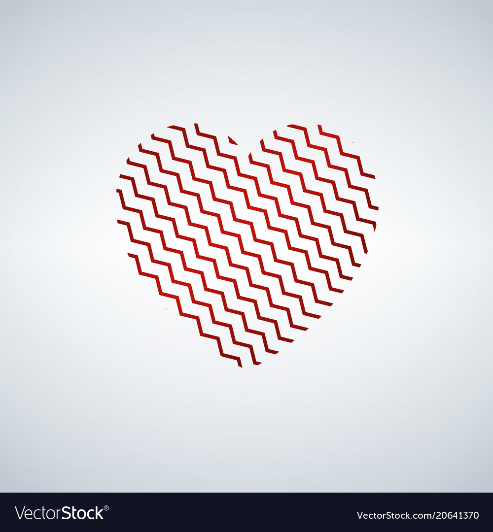 Heart shaped zigzag happy valentine s day vector image