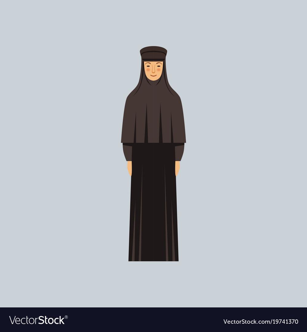 Orthodox nun representative of religious