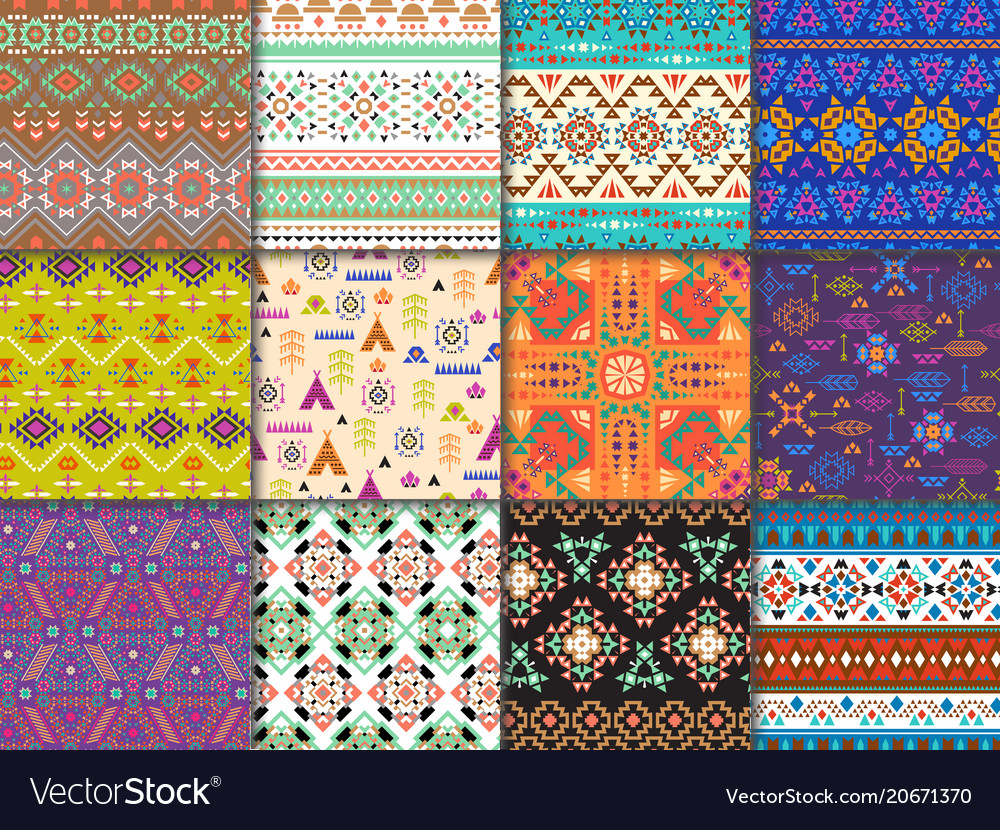 Tribal seamless pattern ethnic texture with