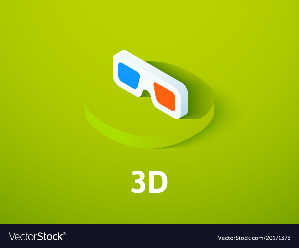 3d isometric icon isolated on color background