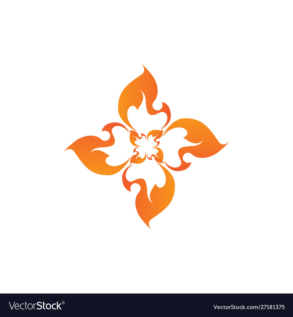 Abstract flame design element creative
