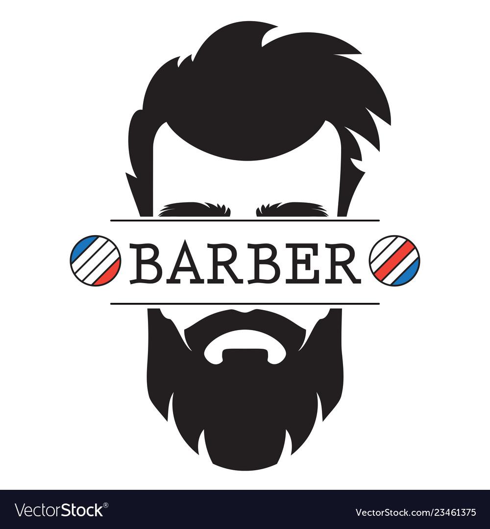 Barber shop vintage retro label logo icon