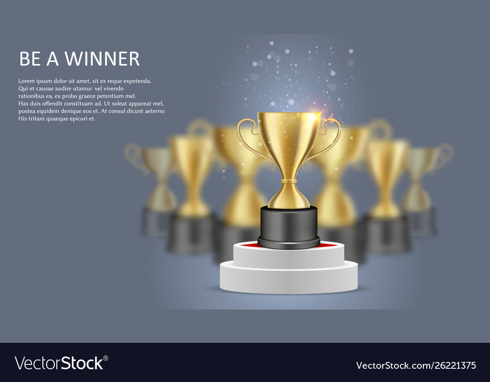 Be a winner poster web banner template