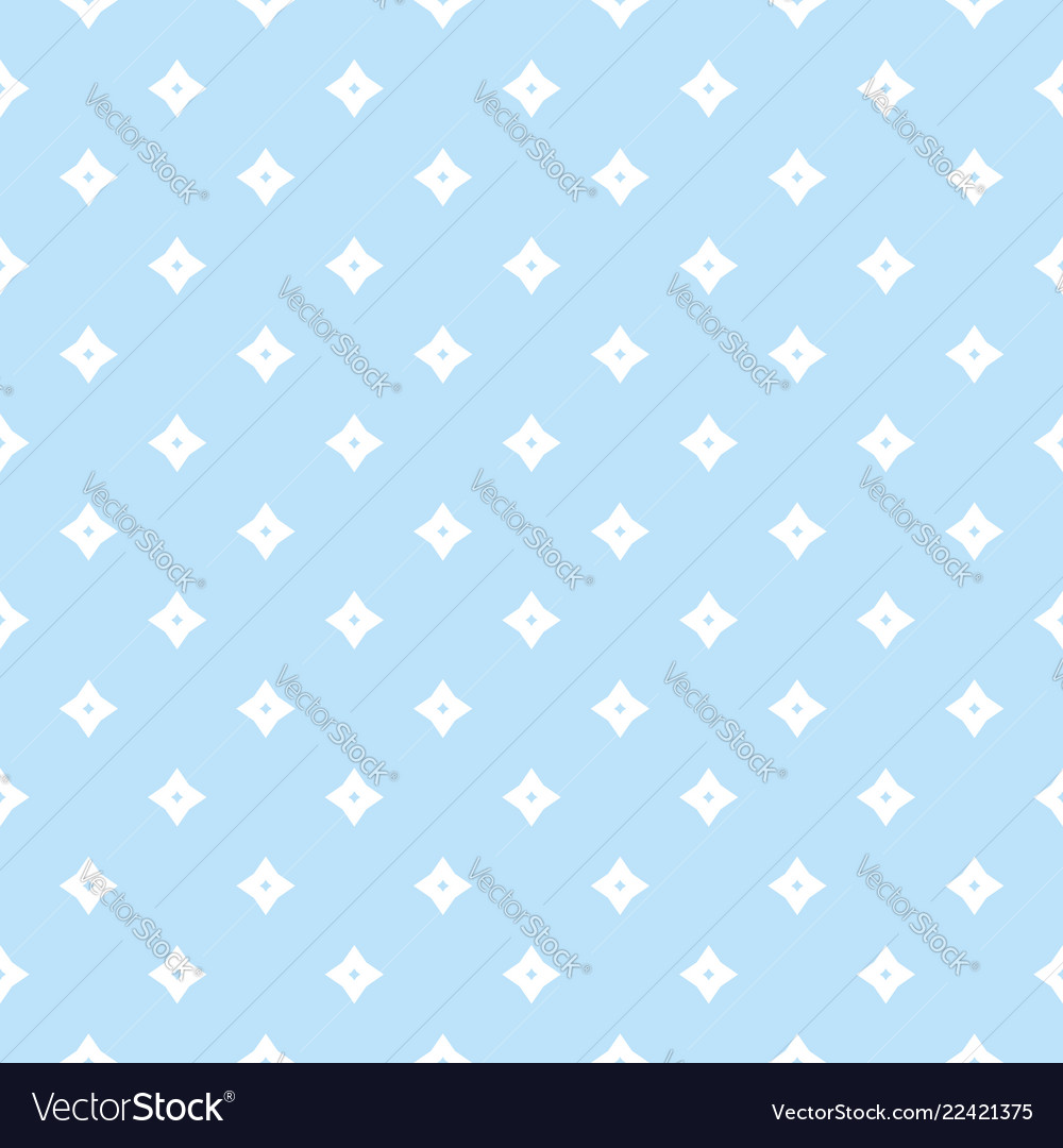 Blue geometric seamless pattern with small stars