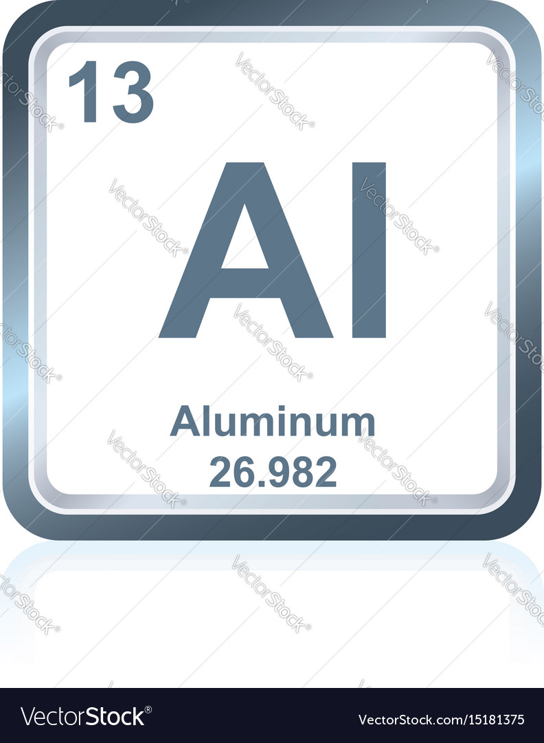Chemical element aluminum from the periodic table vector image urtaz Choice Image