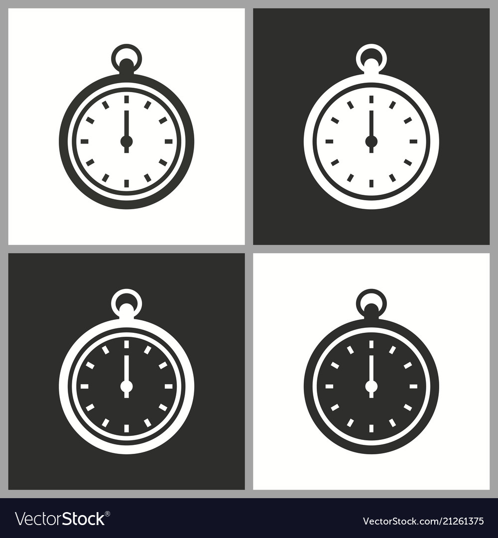 Clock stopwatch icon pictogram for graphic