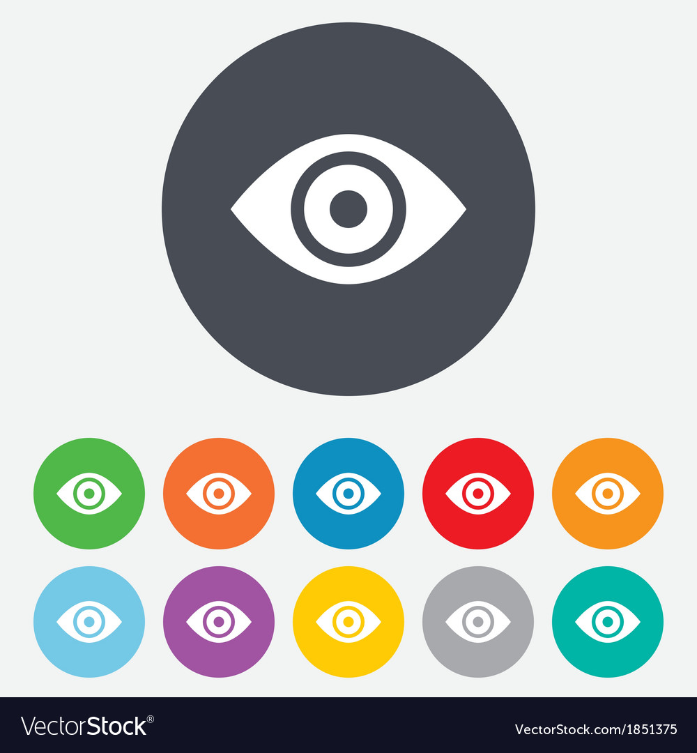 Eye sign icon Publish content button