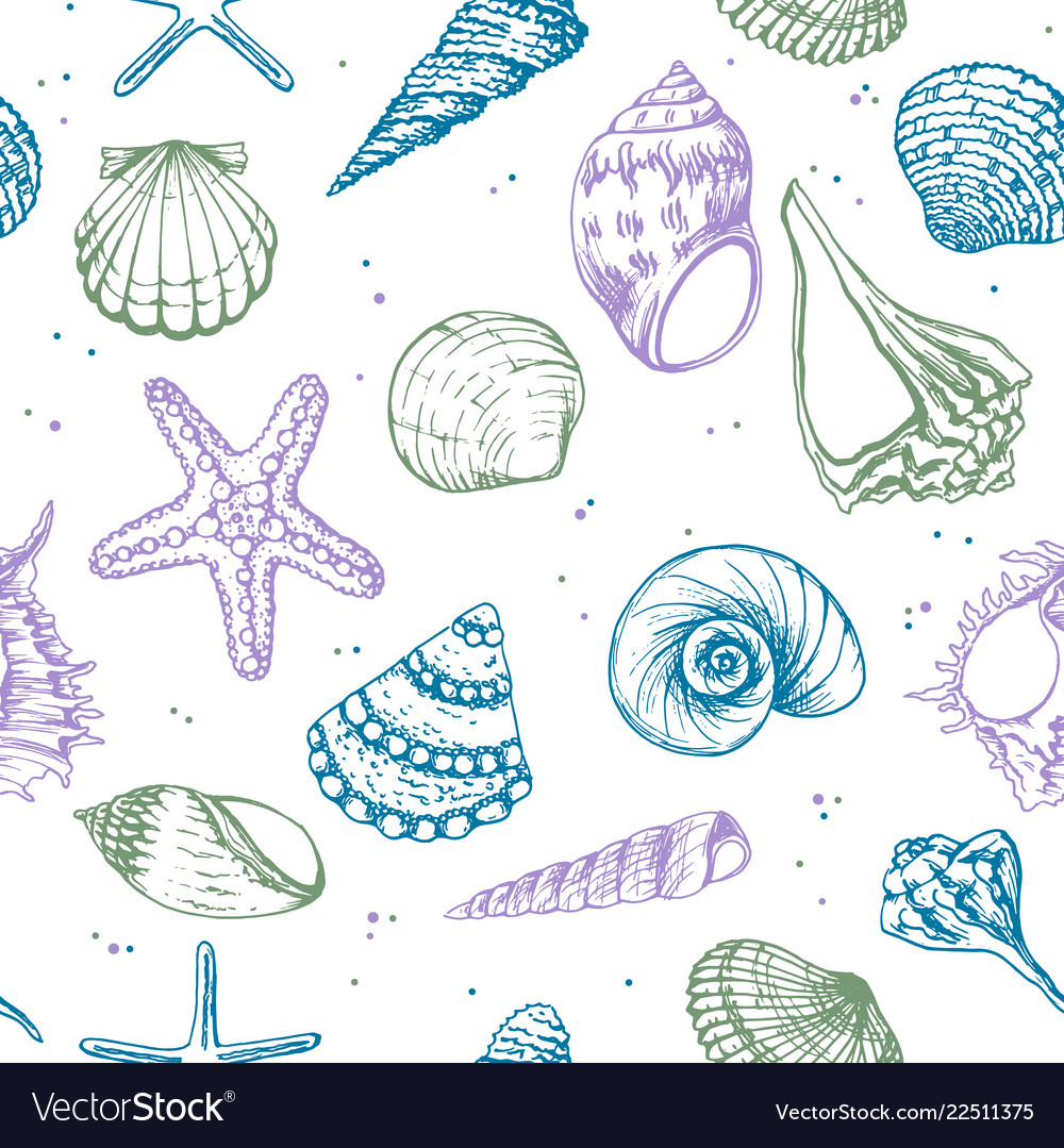 Hand drawn - seamless pattern