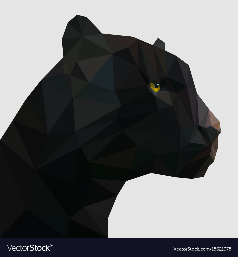 Panther in low poly