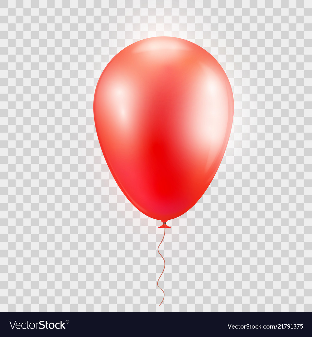 Realistic red baloon on isolated on abstrac