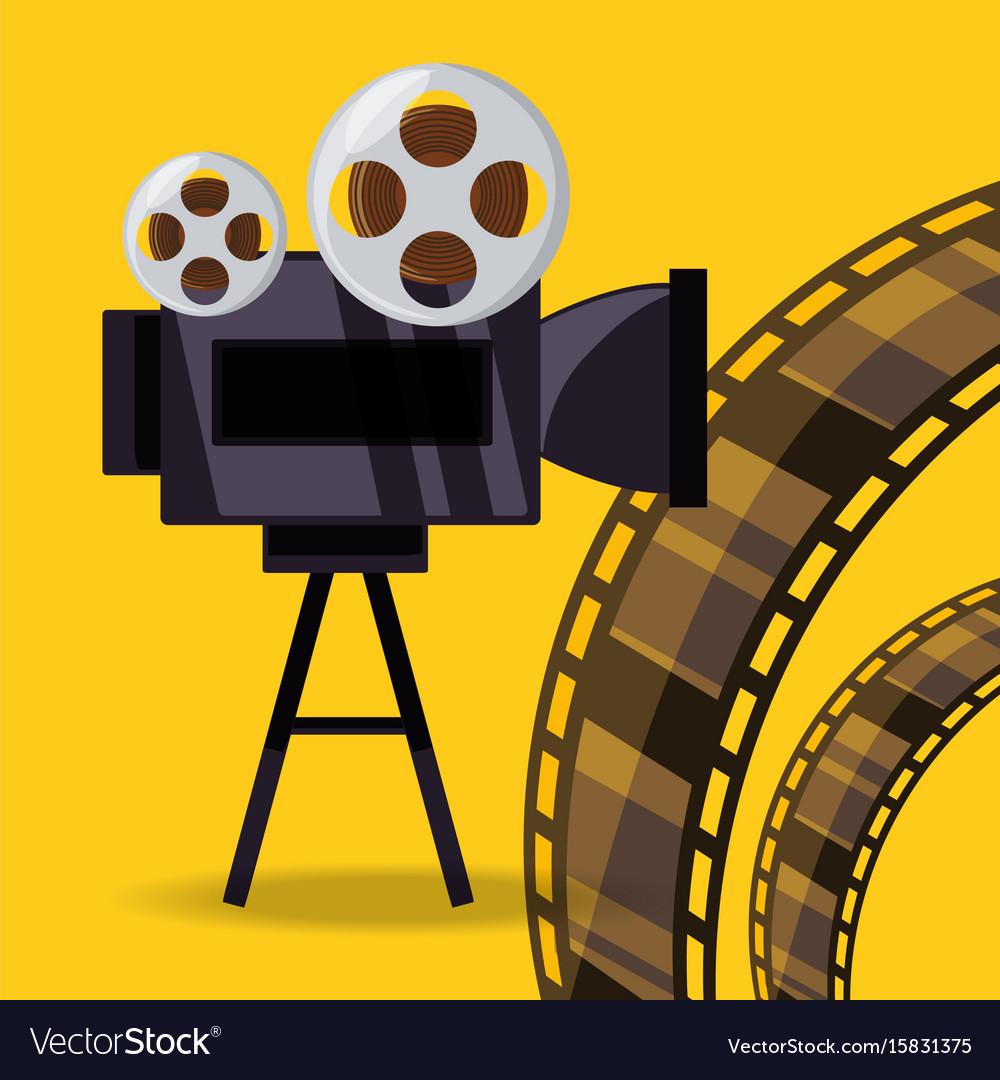 Short film video camera with reel filmstrip