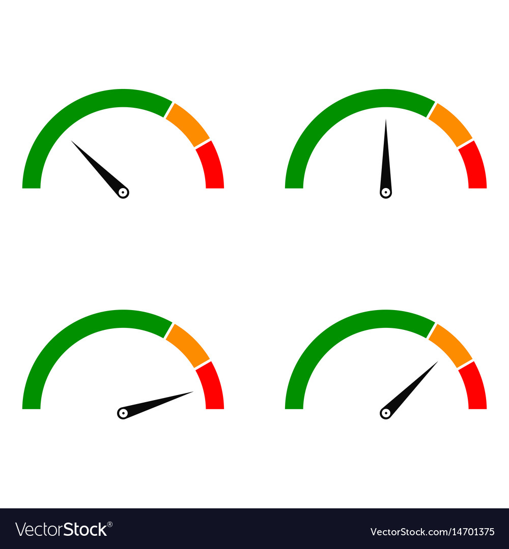 Speed metering color vector image