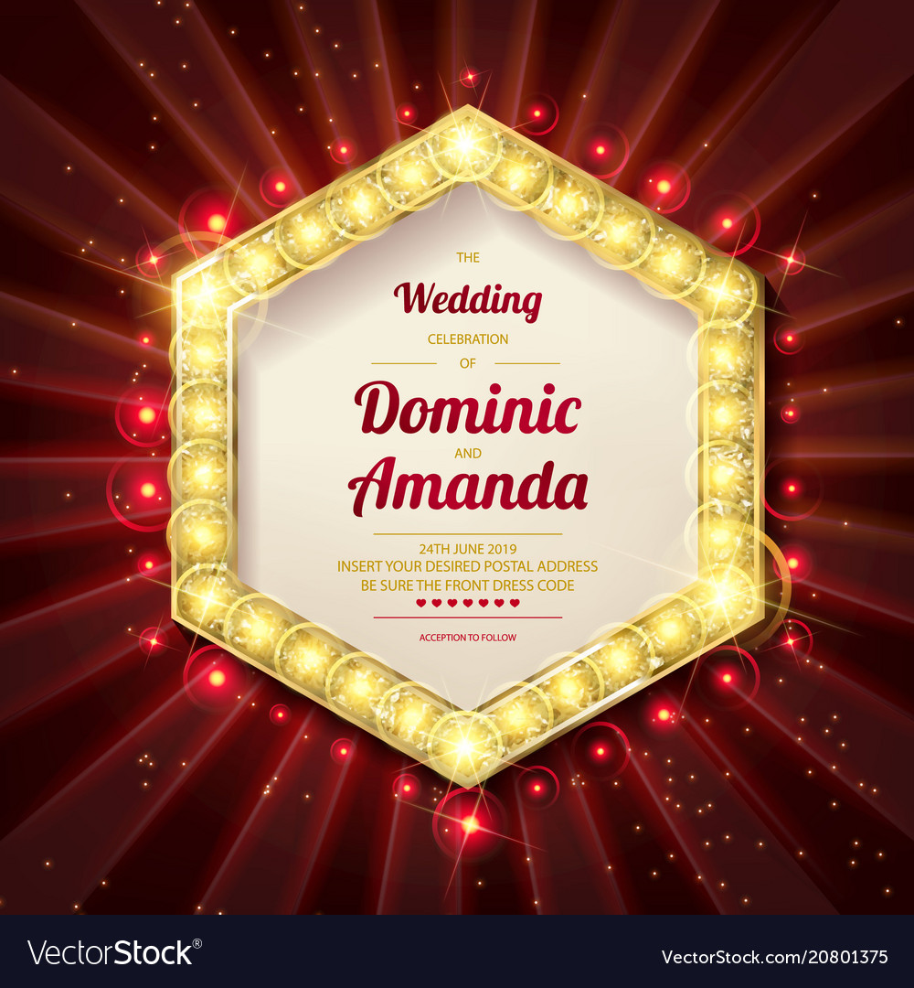 Wedding invitation card Royalty Free Vector Image