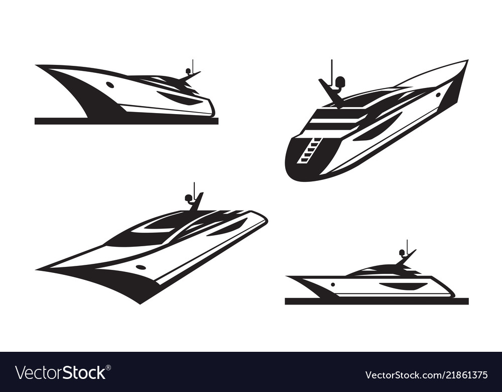 Yacht in different perspective