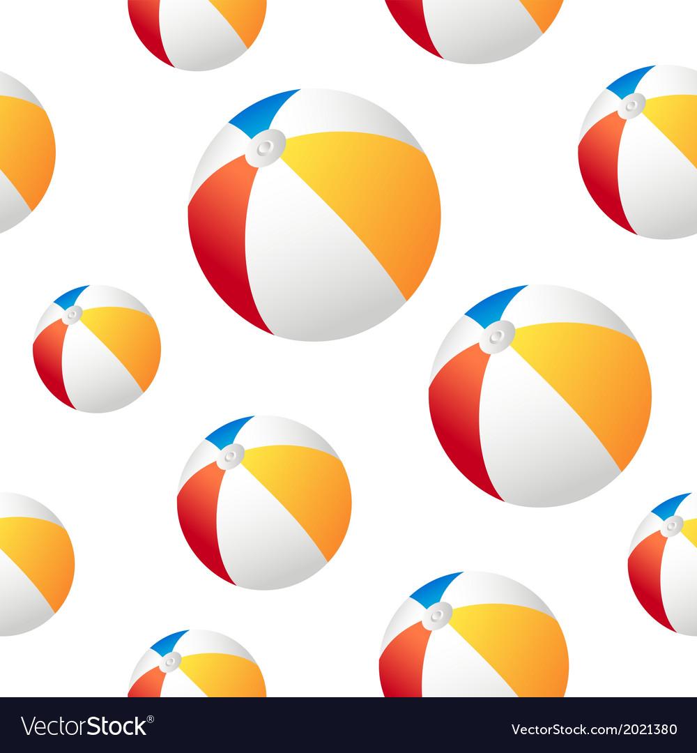 Beach ball background vector image