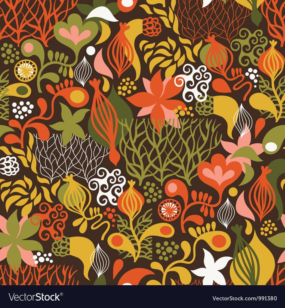 Beautiful seamless pattern vector image
