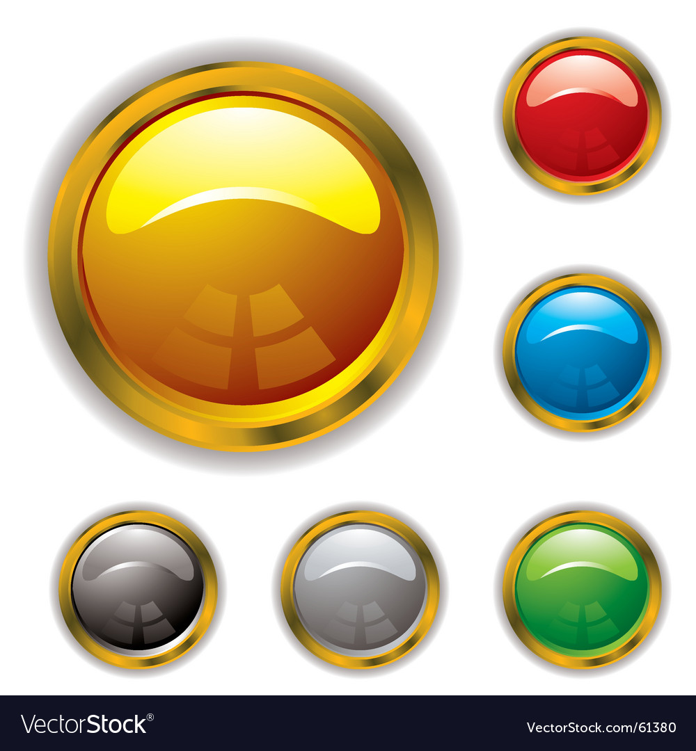 Bevel gel icons vector image
