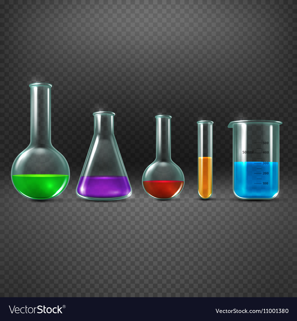Chemical laboratory with chemicals in test tube