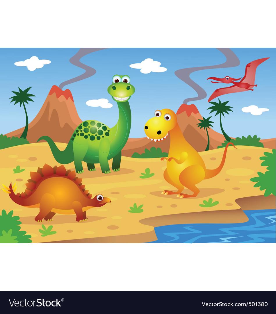 Dinosaurs cartoon Royalty Free Vector Image - VectorStock