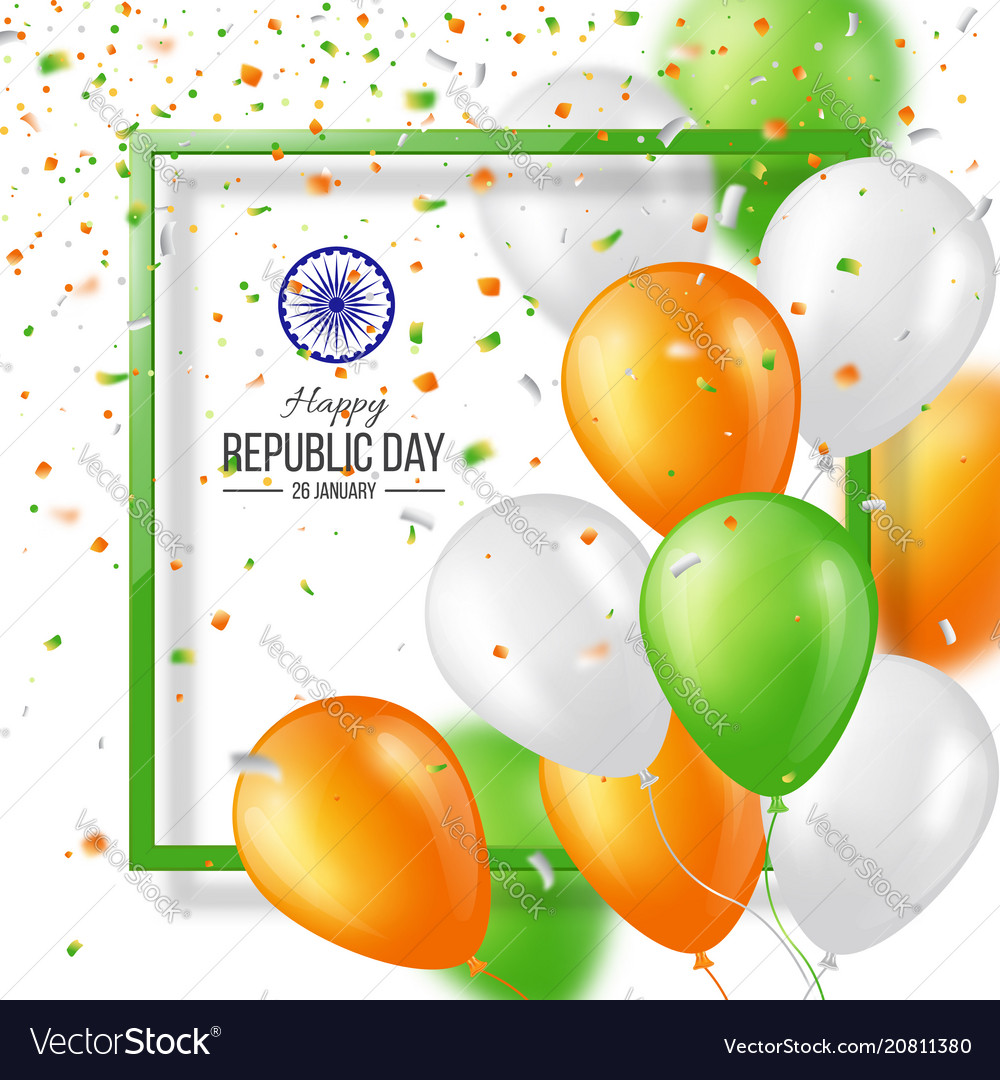 Happy indian republic day celebration background vector image