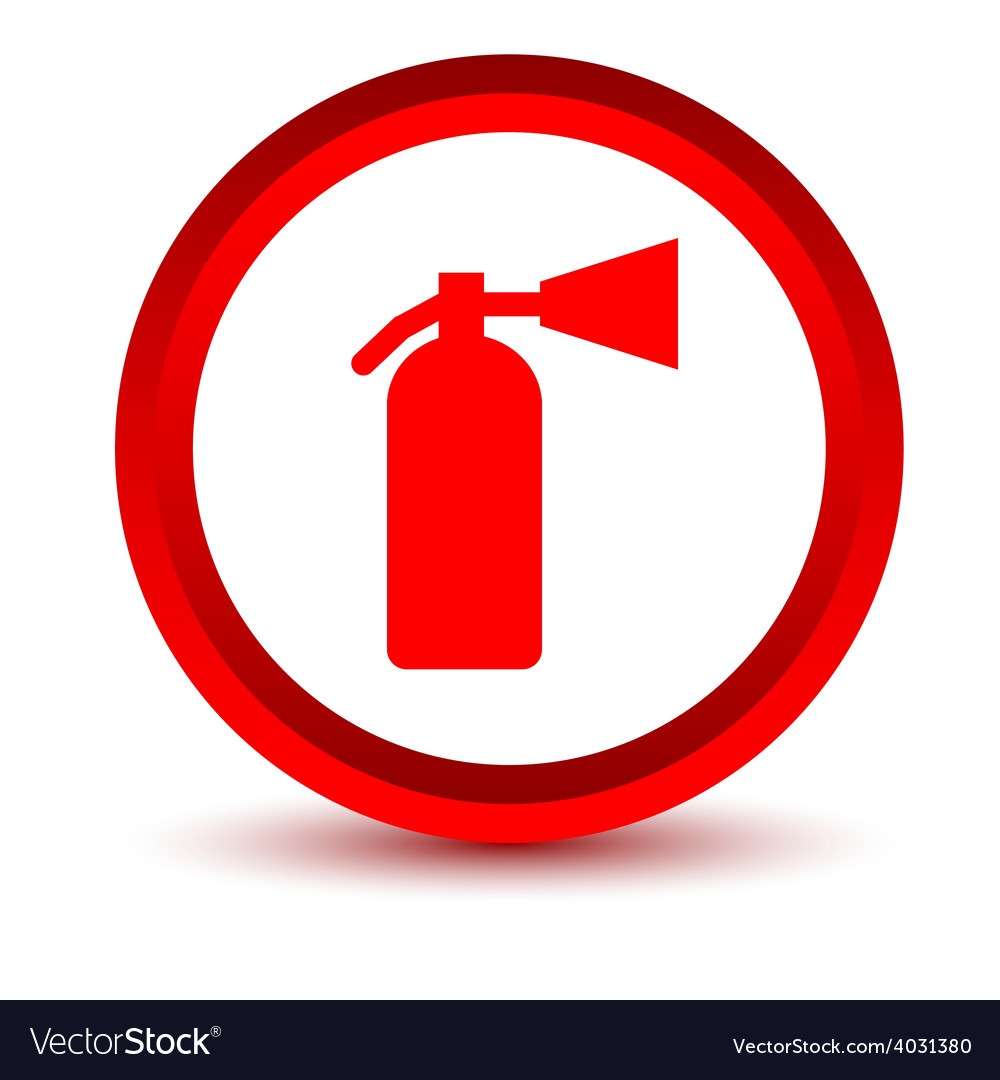 Red Fire Extinguisher Icon Royalty Free Vector Image