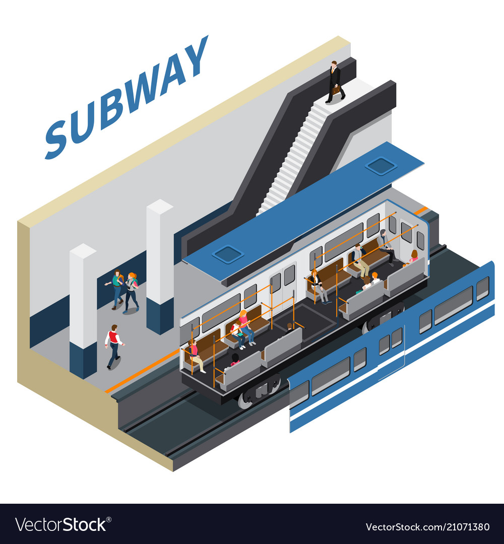 Subway isometric composition