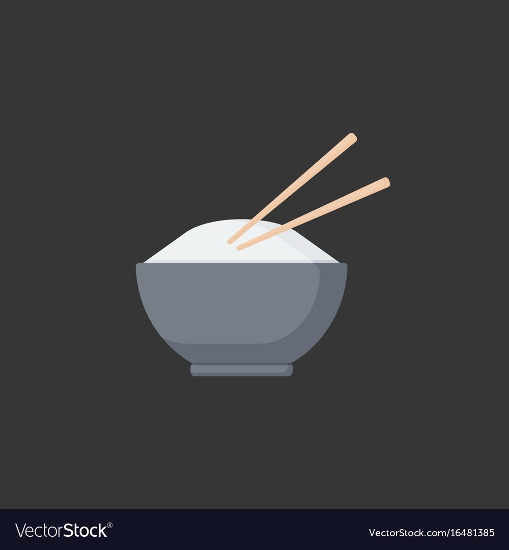 Bowl of rice flat icon